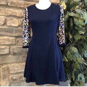 Floral sleeve fit n flare style dress new with tag